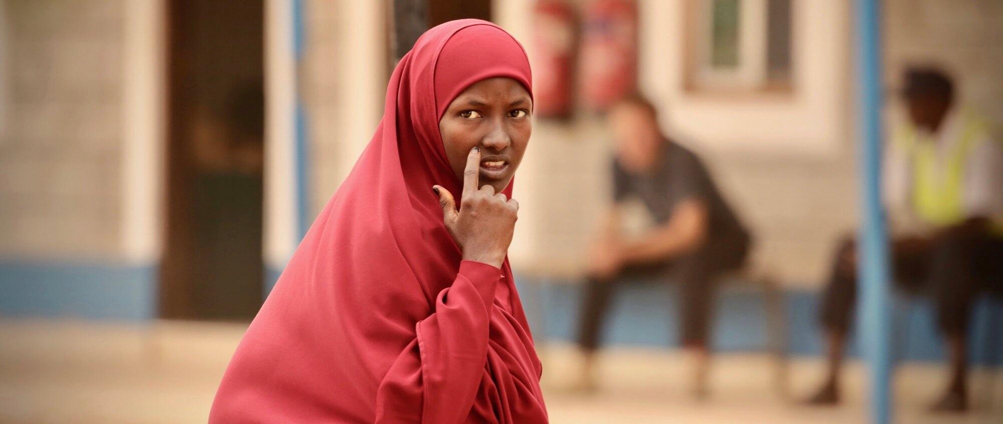 A Somali woman in Dadaab refugee camp